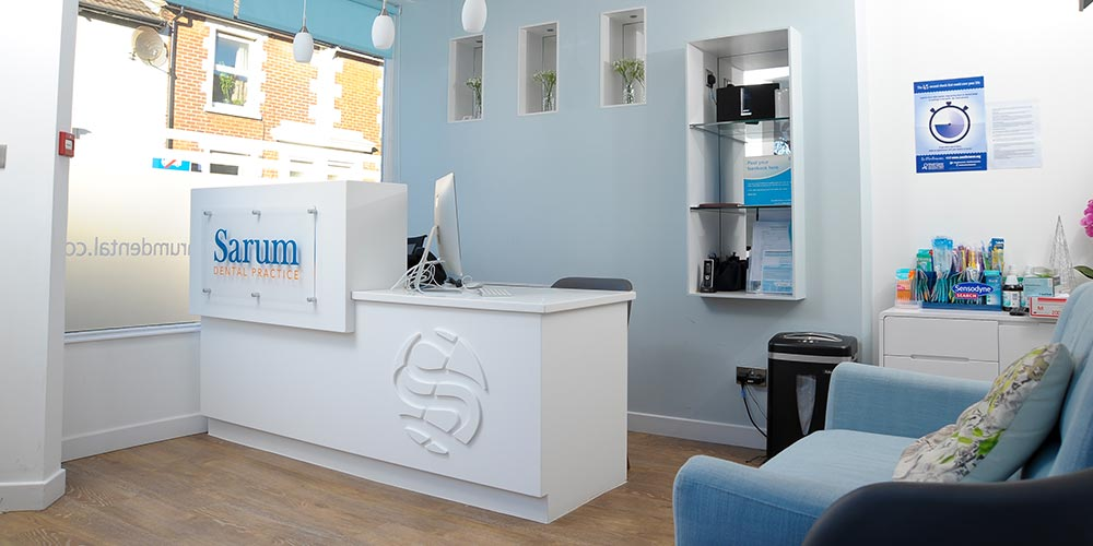 Sarum Dental Practice reception room